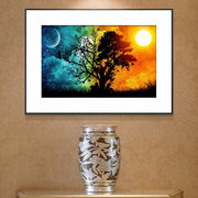Sun and Moon Combination Diamond Painting Home Wall Decor Nature Art Painting