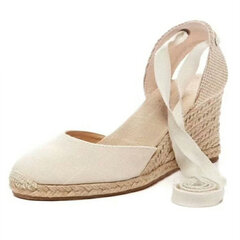 Large Size Strappy Wedges Espadrilles Casual Shoes