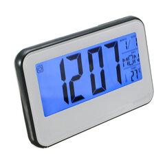 Despertador de bateria digital com calendário de luz de fundo da tela LCD