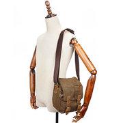 Canvas com couro resistente à água saco de viagem casual saco crossbody para homens