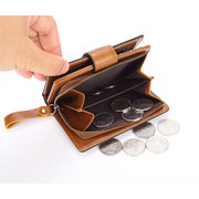 Women RFID Genuine Leather Wallet Multi-slots Card Holder Coin Bag