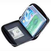 RFID Cuir véritable antimagnétique 40 fentes pour cartes Titulaire de la carte Sac de rangement pour passeport