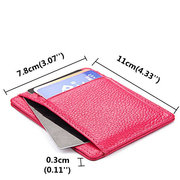 RFID Antimagnetic Woman Purse Wallet 4 Card Holders Cow Leather Man Card Storage Bag