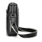 PU Leather Crossbody Bag Casual Business Water-resistant Single-shoulder Bag For Men