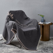 100% Cotton Blend Original INS Minimalism Style Sofa Cover Home Sofa Single Twin Size Blanket