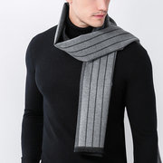 180 cm 70,87 '' men solide kaschmir streifen schals schal winter warm long brushed business schal