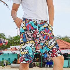 Le conseil de plage drôle d'impression de couples court imperméable cordon de séchage rapide avec la poche latérale