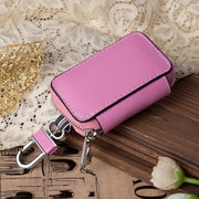 Women Genuine Leather Solid Car Key Bag Elegant Key Holder Coin Bag Purse
