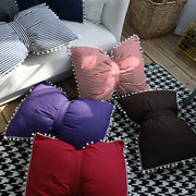 Striped Bow Pillow with Filling Car Neck Pillows Bow Knot Rosette Home Decorative Cushion