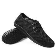 Large Size Men Mesh Fabric Breathable Sweat Absorbing Sport Casual Shoes