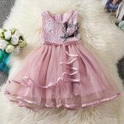 Платья для девочек-цветочков для малышей Лоскутное платье принцессы для 2Y-9Y