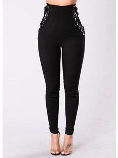 ZANZEA Sexy Women Bandage Skinny Tight High Waist Pencil Pants