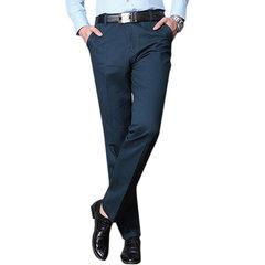 100% coton polaire doublure chaud Casual Business Pants couleur unie Slim Fit pantalon droit pour les hommes