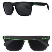 Мужская цветная квадратная рамка Поляризованные солнцезащитные очки Наружные вождения Спортивные очки UV400