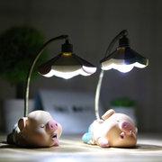 Cute Little Pig Night Light LED Small Light for Home Bedroom Gift