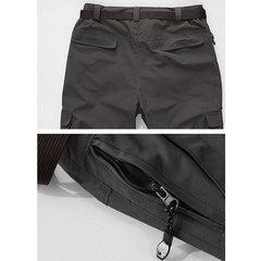 Doublure en molleton épais Soft Shell Pantalon de sport d'extérieur déperlant pour hommes