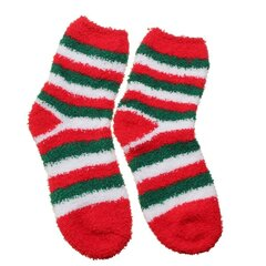 Coral Fleece Cute Christmas Cartoon Pattern Socks Bowknot Thickening Thermal Long Sox