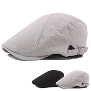Men Women  Summer Thin Adjustable Cotton Beret Cap Breathable Duck Hat Forward Hat Newsboy Cap