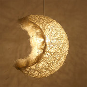 Modern Country Retro Moon Pendant Ceiling Light Lampshade Home Kitchen Decor
