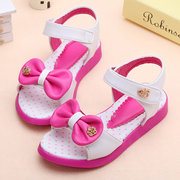 Girls Bowknot Decor Colorful Summer Lovely Sandals