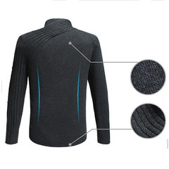Mens Stylish Unique Long Sleeve Buttons Design Slim Fit Casual Sweater