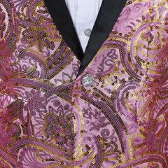 Chaqueta de club nocturno con estilo Chispas brillantes con corbata de lazo para hombres
