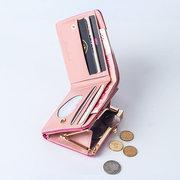 Portefeuille Court en Couleu de Bonbon avec Compartiment de Carte pour Femme