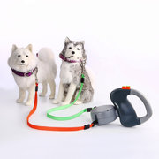 Dual Dog Pet Leash Zero Tangle Walk Two Dog 50 Lbs 3 Meter Ropes For Two Dogs