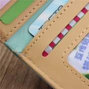 Retro Pumping Buckle Matte Leather Short Wallet