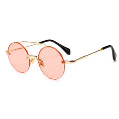 Damen Metallrahmen Hochauflösende Anti-Vertigo Sonnenbrille Outdoor Fashion Square Brille
