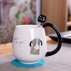 Симпатичная керамическая кофейная чашка с молочной водой