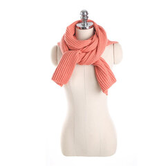 125CM Women Winter Warm Knitted Hooded Scarf Casual Soft Crochet Shawl Conjoined Cap