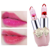 Minfei Temperature Change Color Flower Jelly Lipstick Waterproof Transparent Lips Balm Long Lasting
