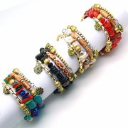 Bohemian Gravel Multi Layer Bracelet Turquoise Bracelet For Women Wrap Bracelet