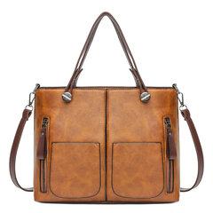 Sac à main vintage en cuir PU sac bandoulière pour femme