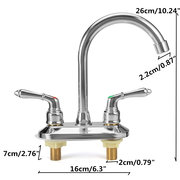 Modern Chrome Cold & Hot Bathroom Basin Faucets Double Open Basin Sink Mixer Tap