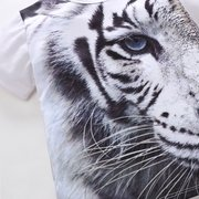 3D Tiger Printed Toddler Boys Kids Casual Cotton T-shirt Tees For 2Y-9Y