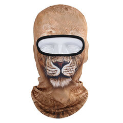 3D Cat Tiger Animal Breathable Bicycle Full Face Mask Hats Outdoor Sunshade Warm Hat For Men Women