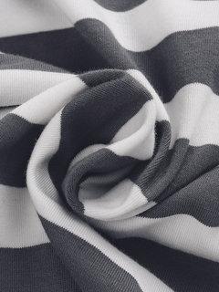 Patchwork Cross  Stripe V Neck Long Sleeve Casual Women  Cardigan