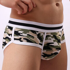 Mens boxers sexy en coton camouflage U convexes Pouch taille moyenne