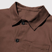 Veste décontractée vintage à manches longues en coton vintage pour hommes