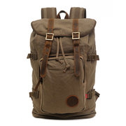 AUGUR Men Canvas Vintage Travel Backpack Outdoor Travel Retro Large Capacity Bag