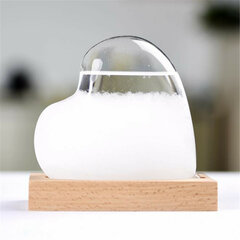 Water Storm Glass Bottle Weather Forecast Crystal Home Decor Christmas Gift Water Drop Heartshape