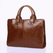 Men PU Leather Handbags Business Briefcase Shoulder Bags