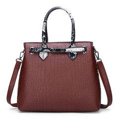Women Snake Pattern Vintage Tote Bag Handbag Crossbody Bag