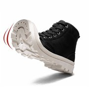 Men Canvas High Top Outdoor Anti-collision Toe Lace Up Casual Boots