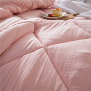 Washed Cotton Quilt Siold Cover Thicken Winter Spring Comforter Full Queen King Size