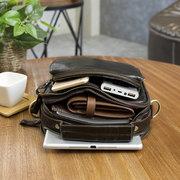 Vintage Genuine Leather Outdoor Travel Shouder Bag Crossbody Bag For Men