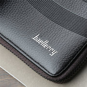 Faux Leather Casual 8 Card Slot Clutch Bags Business Large Capacity Wallet For Men