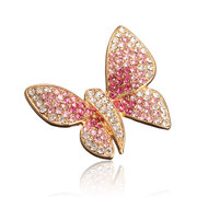 Broche papillon en alliage strass